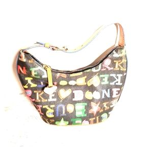 Dooney & Bourke Colorful Monogram Bucket Purse